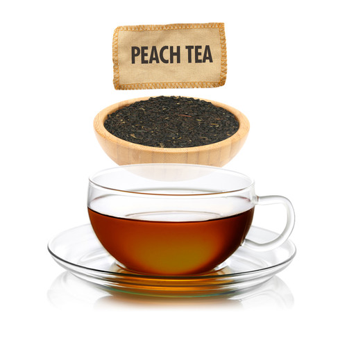 Peach Flavored Black Tea - Loose Leaf - Sampler Size - 1oz