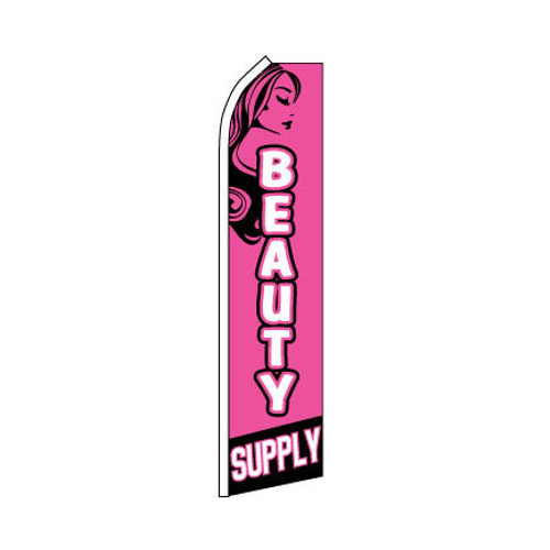 Beauty Supply Swooper Flag