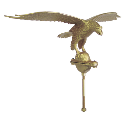 Outdoor Gold Flagpole Eagle - 10in Tall with 24in Wingspan