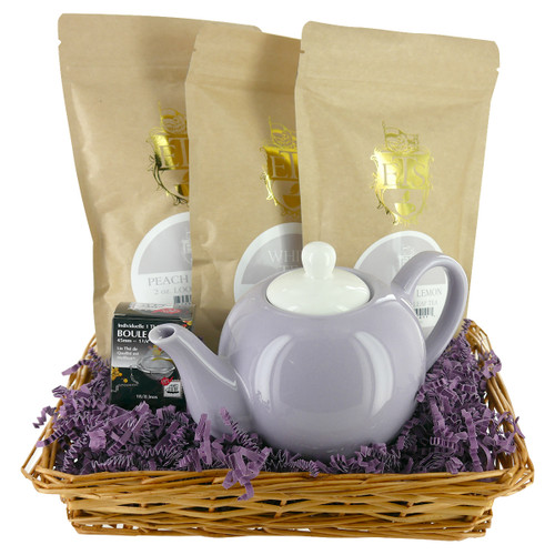 White Teas Gift Basket