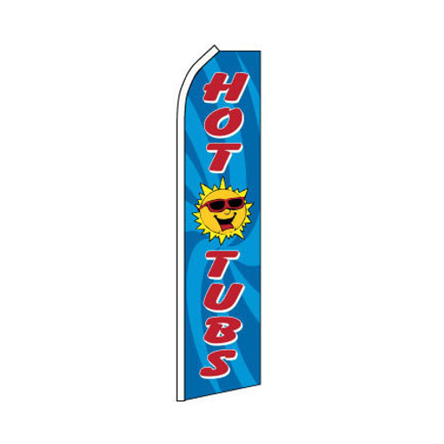 Hot Tubs Swooper Flag