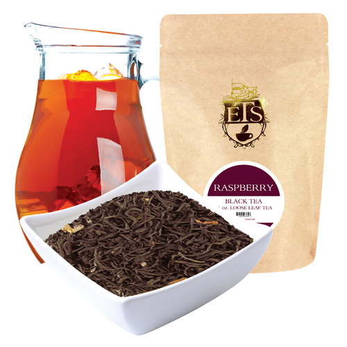 Raspberry Flavored Black Coarse Cut Tea  - Loose Leaf