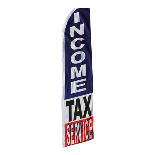 Income Tax Service Swooper Flag
