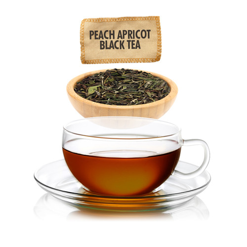Peach Apricot Flavored Black Tea - Loose Leaf -  Sampler Size - 1oz