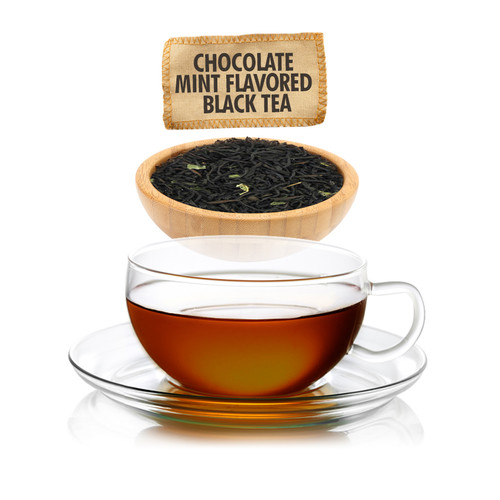 Chocolate Mint Flavored Black Tea - Loose Leaf - Sampler Size - 1oz