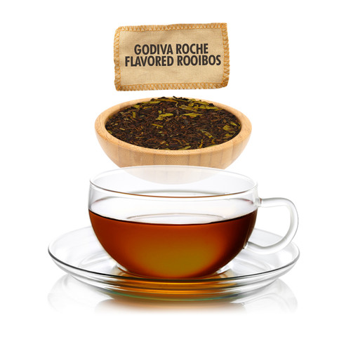 Godiva Roche Flavored Rooibos Tea - Loose Leaf - Sampler Size -1oz