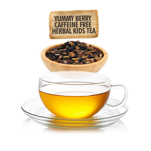 Caffeine Free Yummy Berry Herbal Tea for Kids - Loose Leaf - Sampler Size - 1oz