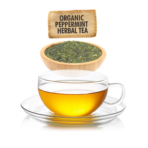Organic Peppermint Herbal Tea - Loose Leaf - Sampler Size - 1oz