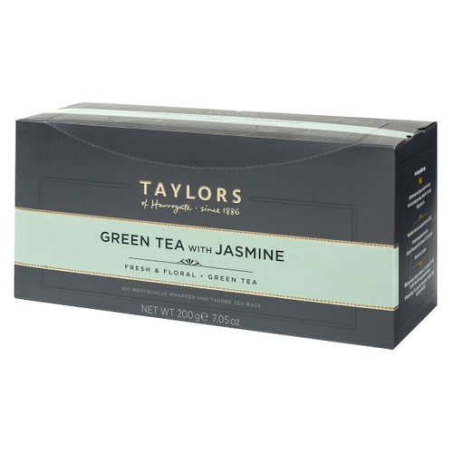 Taylors of Harrogate Green Tea with Jasmine - String & Tag 100 count
