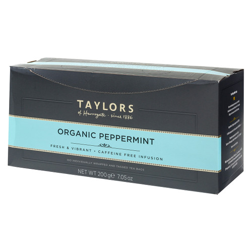 Taylors of Harrogate Organic Peppermint - String & Tag 100 count