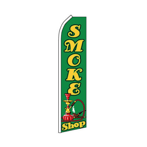 Smoke Shop Swooper Flag - Green