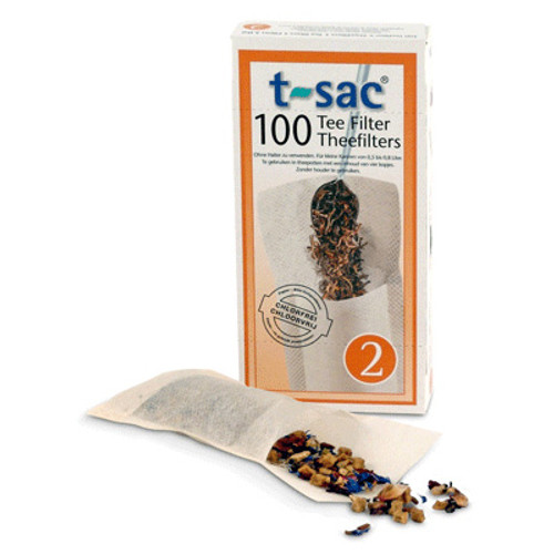 T-sac Tea Filter Bags Size 2 in Box of 1000