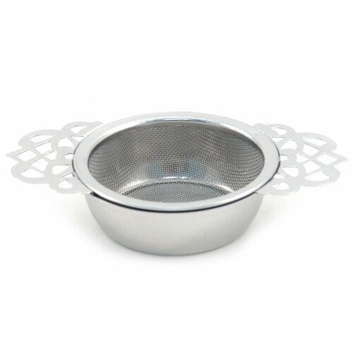4.25-Inch Stainless Steel Mesh The Empress Tea Strainer with Bowl