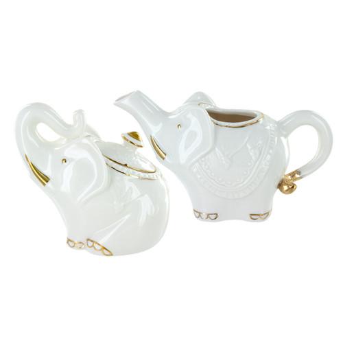 Royal Jaipur Porcelain Sugar Bowl & Creamer Set