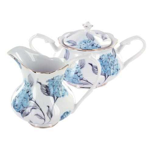 Dunaway Porcelain Sugar Bowl & Creamer Set