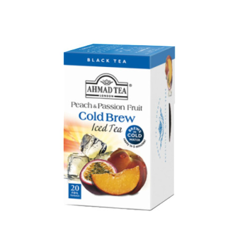 Ahmad Tea Peach & Passion Fruit Cold Brew Iced Tea Teabags -20 count