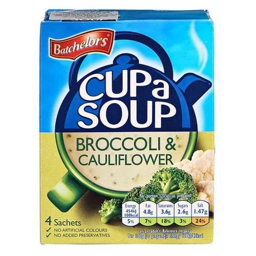 Batchelor's Cup-A-Soup - Creamy Cauliflower and Broccoli 3.56 oz (101g)