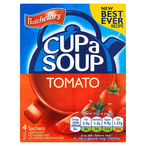 Batchelor's Cup-A-Soup - Tomato  3.28 oz (93g)