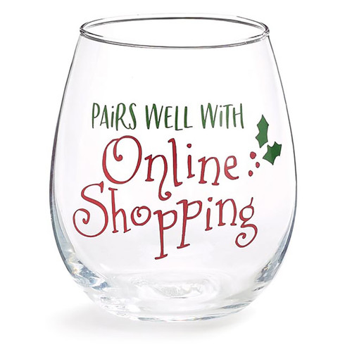 Pairs Well With Online Shopping Stemless Wine Glass - 16oz