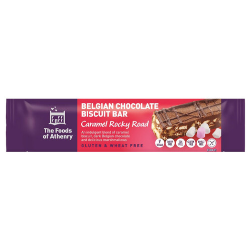 Belgian Chocolate Biscuit Bar - Caramel Rocky Road - 1.94oz (55g)