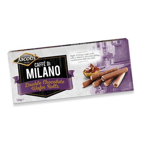 Jacob's Caffe Di Milano Double Chocolate Wafer Rolls