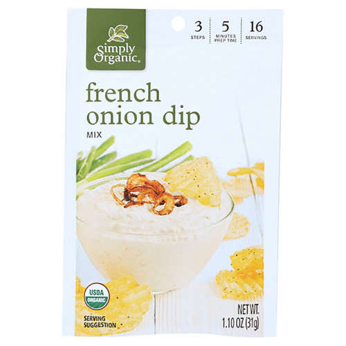 Simply Organic French Onion Dip Mix - 1.10oz (31g)