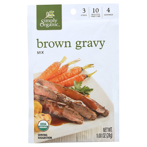 Simply Organic Brown Gravy Mix - 1.0oz (28g)