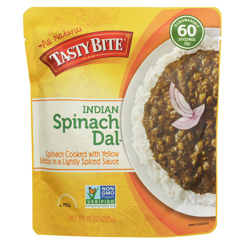 Tasty Bite Indian Spinach Dal Entree - 10oz (285g)