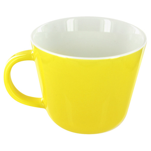 English Tea Store Porcelain Mug- Yellow Gloss Finish