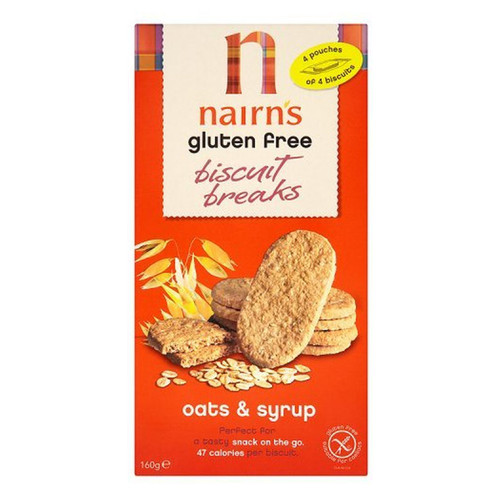 Nairn's Gluten Free Biscuit Breaks - Oats & Syrup - 5.64oz (160g)