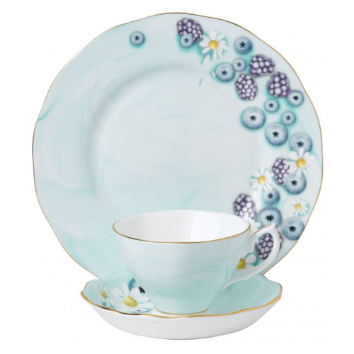 Royal Albert Fine Bone China - Alpha Foodie Turquoise 3-Piece Place Setting