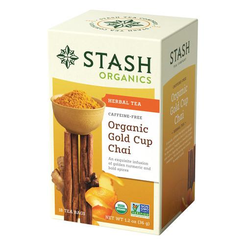 Stash Organic Gold Cup Chai Herbal Tea - 18 count