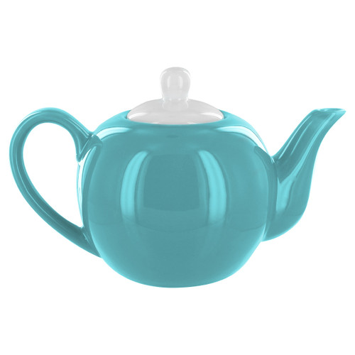 English Tea Store 2 Cup Porcelain Teapot- Teal Gloss Finish