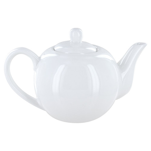 English Tea Store 2 Cup Porcelain Teapot- White Gloss Finish