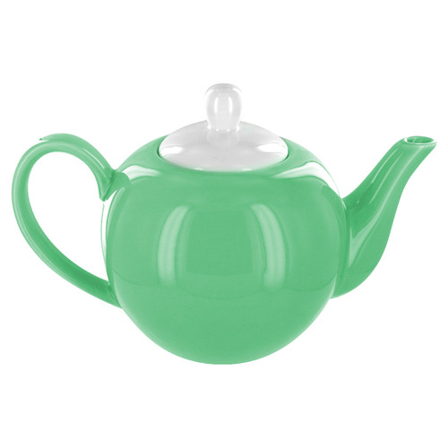 English Tea Store 6 Cup Porcelain Teapot- Green Gloss Finish