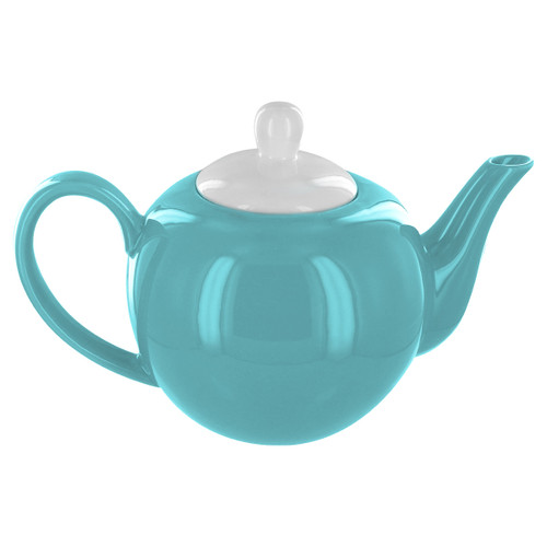 English Tea Store 6 Cup Porcelain Teapot- Teal Gloss Finish