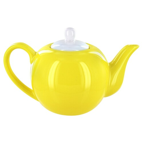 English Tea Store 6 Cup Porcelain Teapot- Yellow Gloss Finish