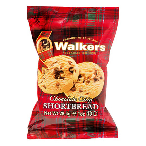 Walkers Chocolate Chip Shortbread - 2 Pack - 1oz (28g)