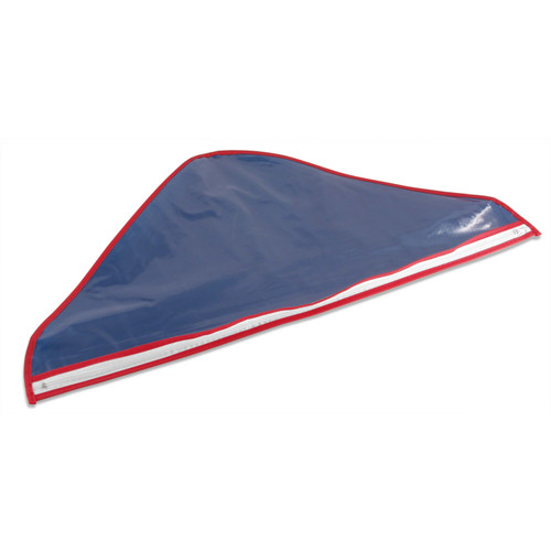 Memorial Flag Bag in Clear Plastic with Zipper