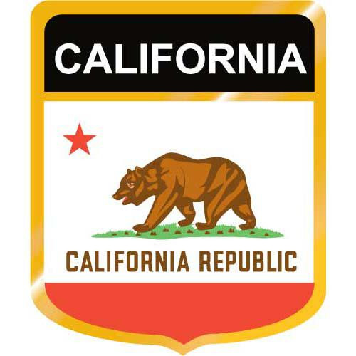 California Flag Crest Clip Art - Downloadable Image