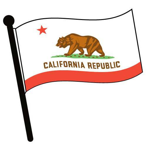 California Waving Flag Clip Art - Downloadable Image