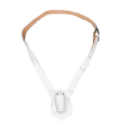 Single Strap White Leather Carrying Belt
