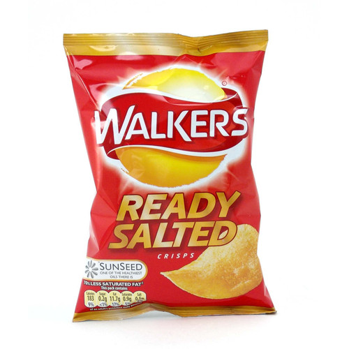 Walkers' Ready Salted Crisps - 1.12oz (32g)