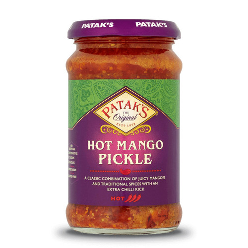 Patak's Hot Mango Pickle - 10oz (283g)