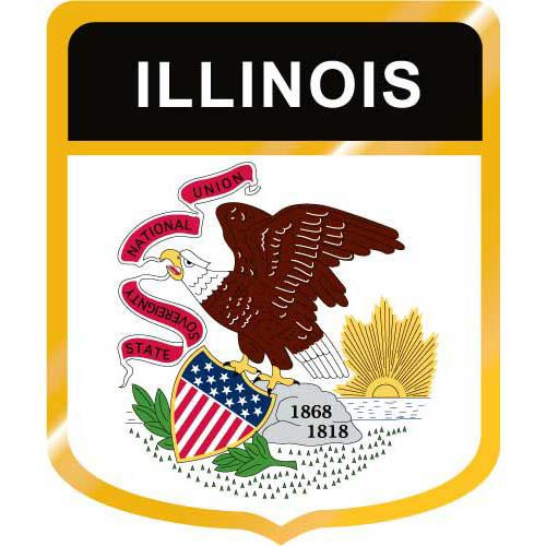 Illinois Flag Crest Clip Art - Downloadable Image