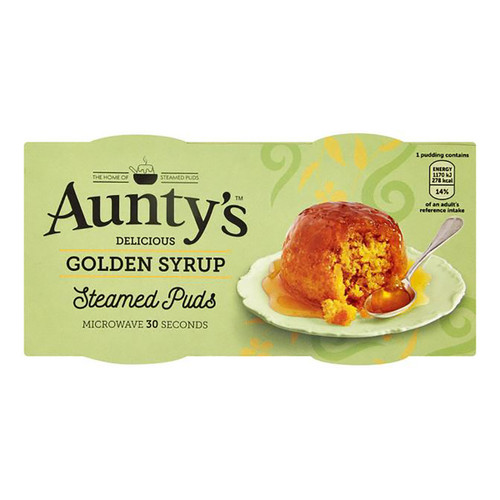 Auntys Golden Syrup Pudding - (2 x 95g)