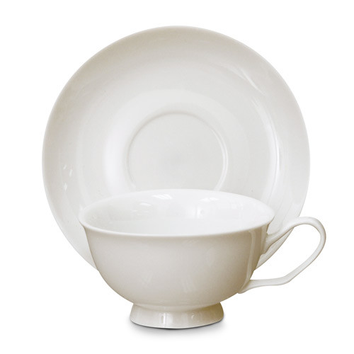 Porcelain Cup and Saucer - Helios - Individual Set