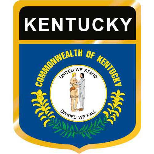Kentucky Flag Crest Clip Art - Downloadable Image
