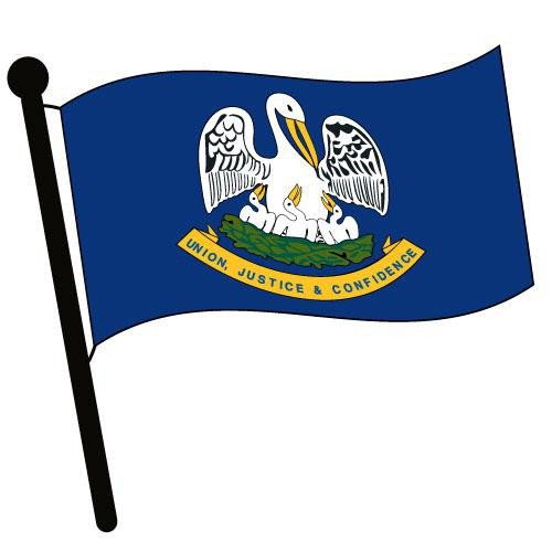 Louisiana Waving Flag Clip Art - Downloadable Image