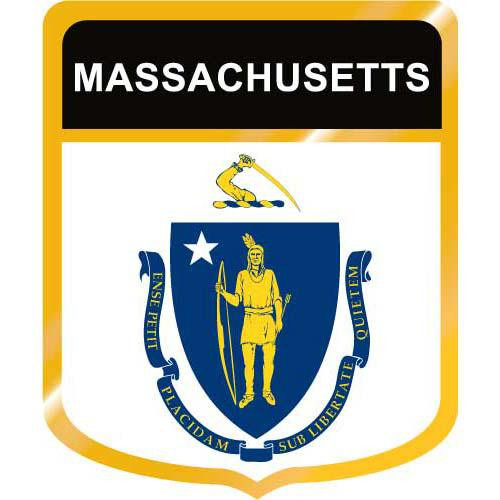 Massachusetts Flag Crest Clip Art - Downloadable Image